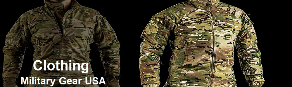 military clothes banner military gear USA