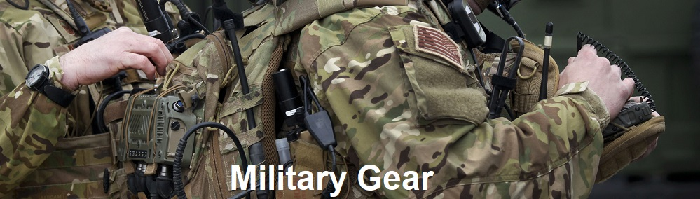 military gear banner
