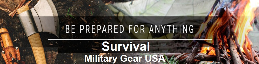 survival supplies banner military gear USA